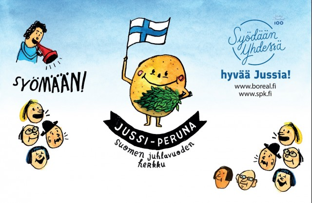 Jussi-varhaisperuna juhlii Suomi100-hengessä Neitsytperunafestivaaleilla 16.-17.6.2017